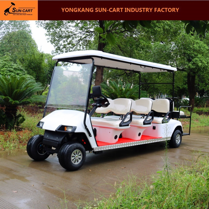 8 Seater Electric Golf Cart (CE approved golf cart with rear back folding seats)