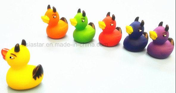 Hand-Painted 6 Colors Vinyl Devil Duck