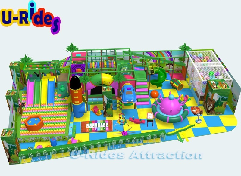 Soft Play Equipment Indoor Playground With Outdoor Swing Sets For Kids