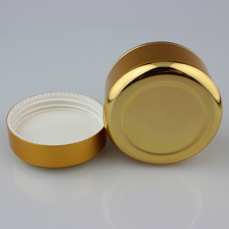 Gold Color Aluminum Glass Jar
