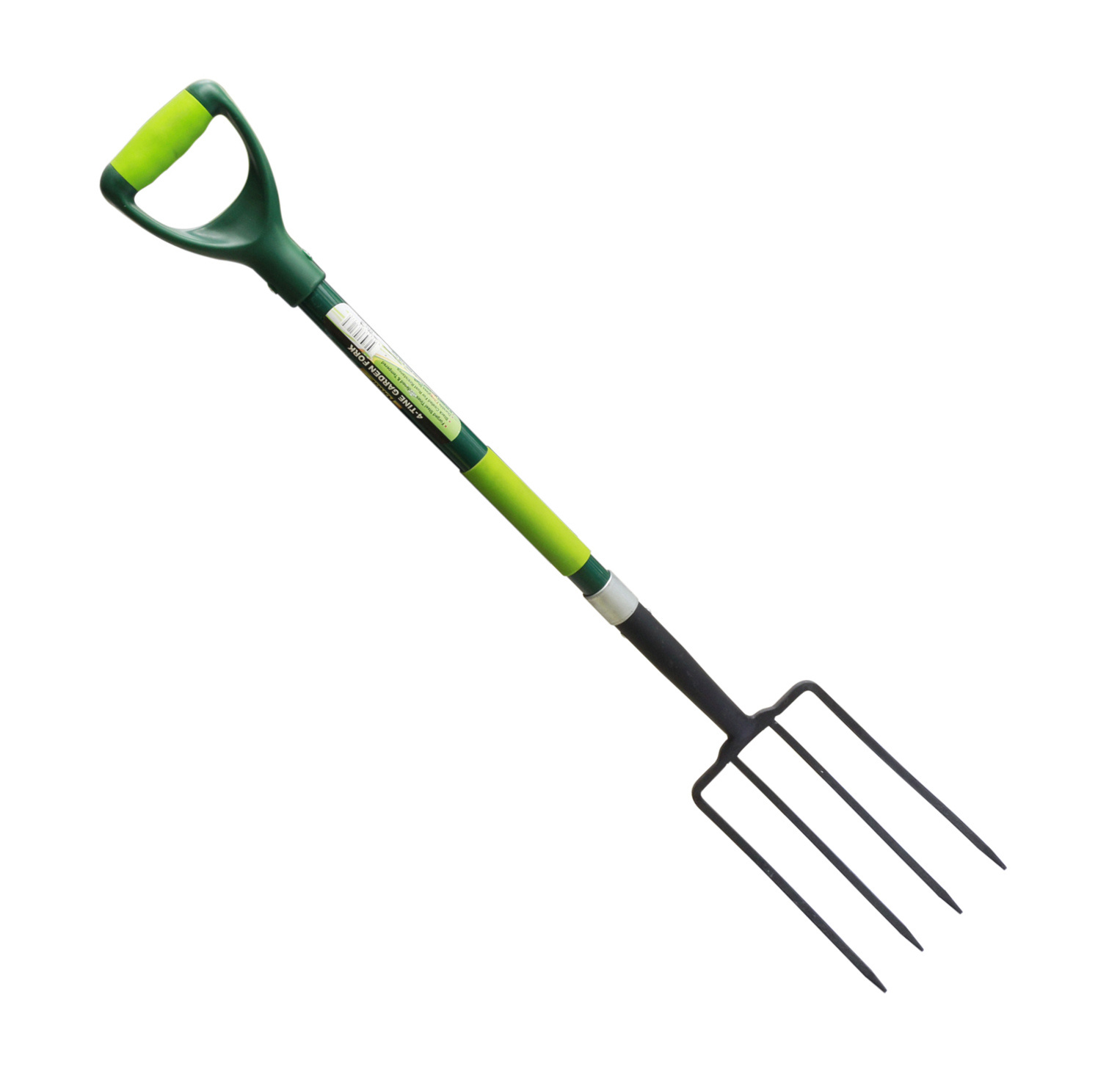 Garden Tools High Carbon Steel 4-Tine Garden Fork Pitchfork with Fibreglass Handle