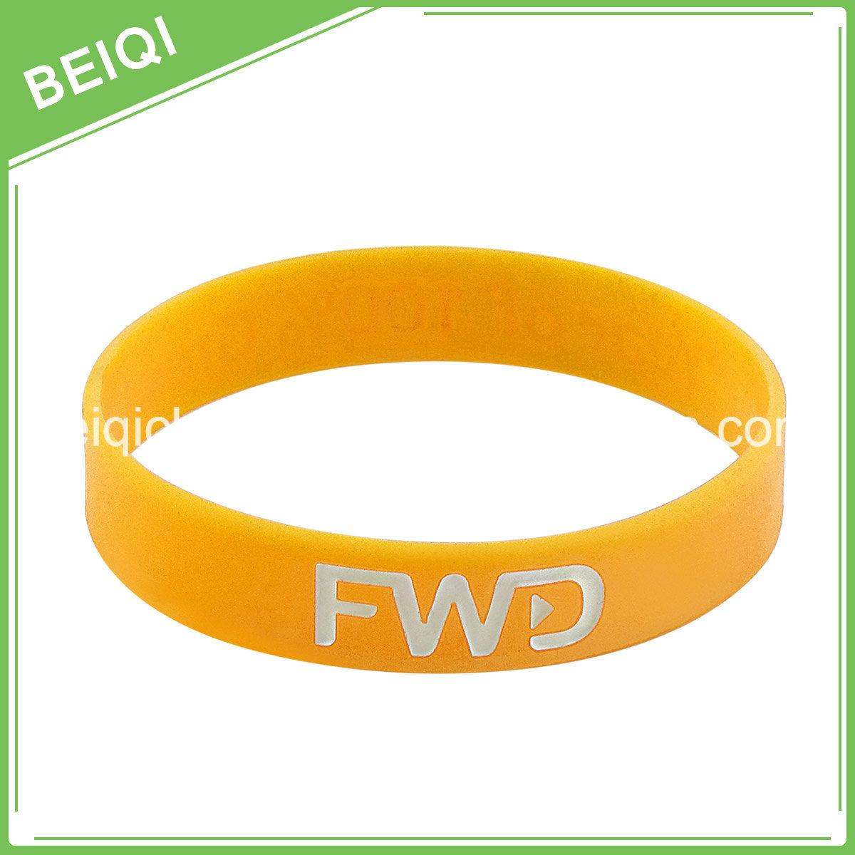 Cancer Rubber Bracelets with Logo Color Filledin