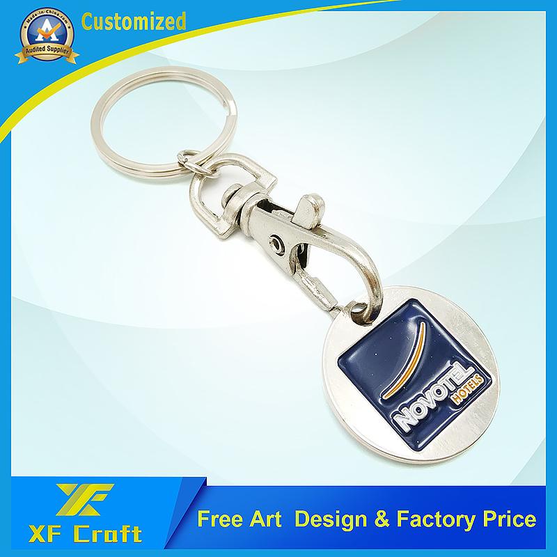 Professional Custom Souvenir Coin Holder /Trolley Key at Cheap Price (XF-TK04)
