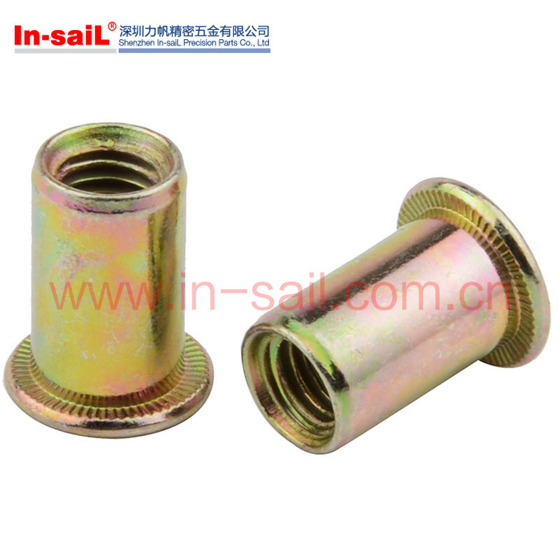 Flat Head Half Hex Insert Rivet Nuts M3-M12