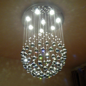 Popular Single Ball Crystal Pendant Light LED Chandeliers for Living Room Decoration 6002-13