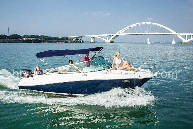 22′ Fiberglass Sporty Leisure Speed Boat Hangtong Factory-Direct