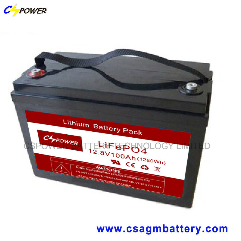 Cspower Lithium-Ion Battery Pack 12V-100ah Deep Cycle Battery