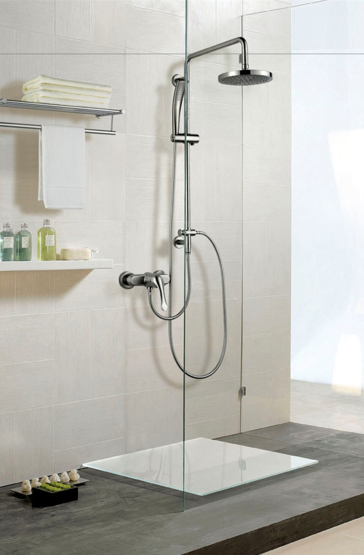 Stainless Steel Single Handle Rainfall and Hand-Held Bathroom Shower