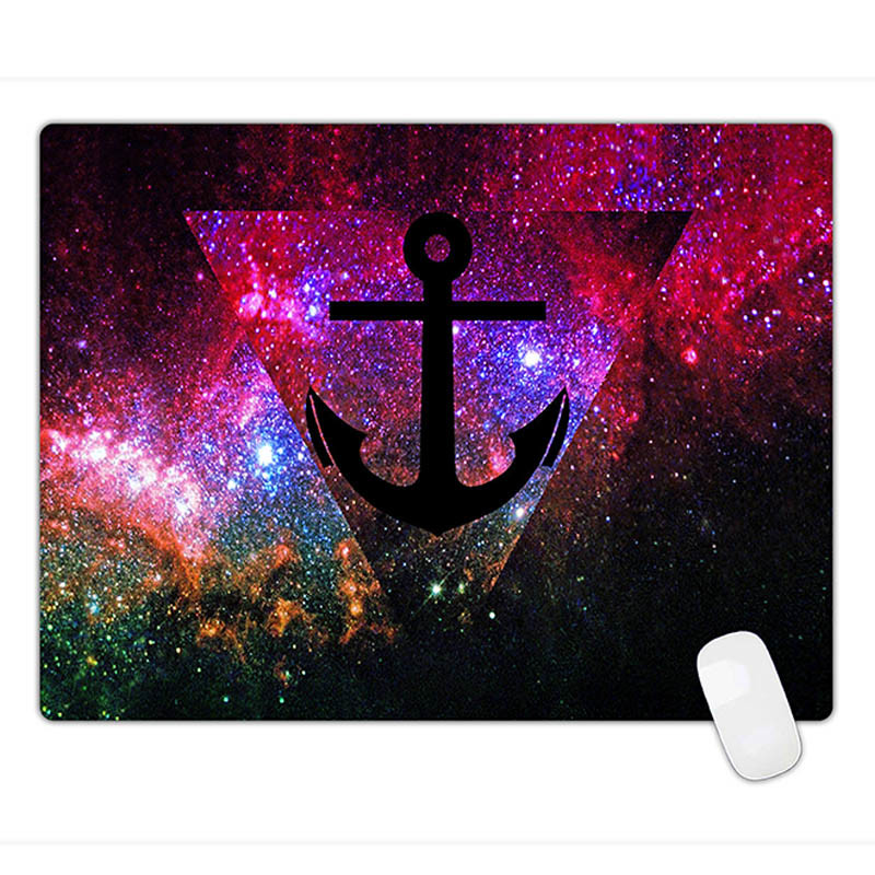 Oil Painting Style Anti-Fray Cloth Gaming Mouse Pad, Extended