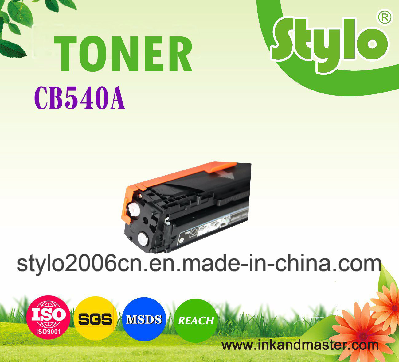 CB540A Color Toner Cartridge for HP 1215/1515/Cm1312/1300/Cp1210
