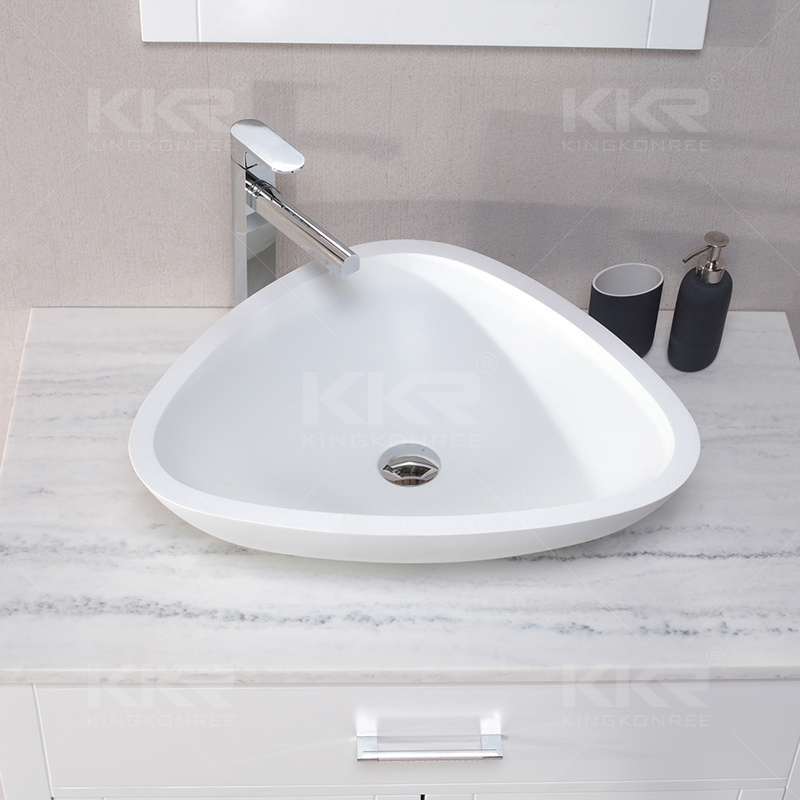 Wholesale Wall Hung Solid Surface Bathroom Wash Basin (170817)