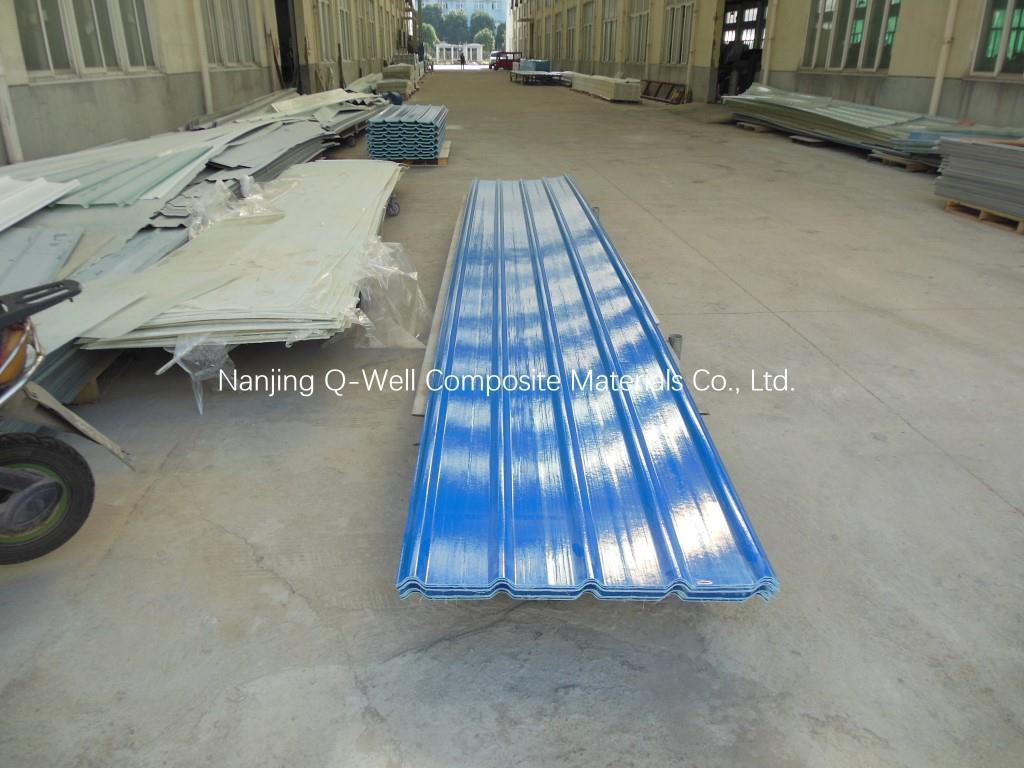 FRP Panel Corrugated Fiberglass/Fiber Glass Color Roofing Panels T172011