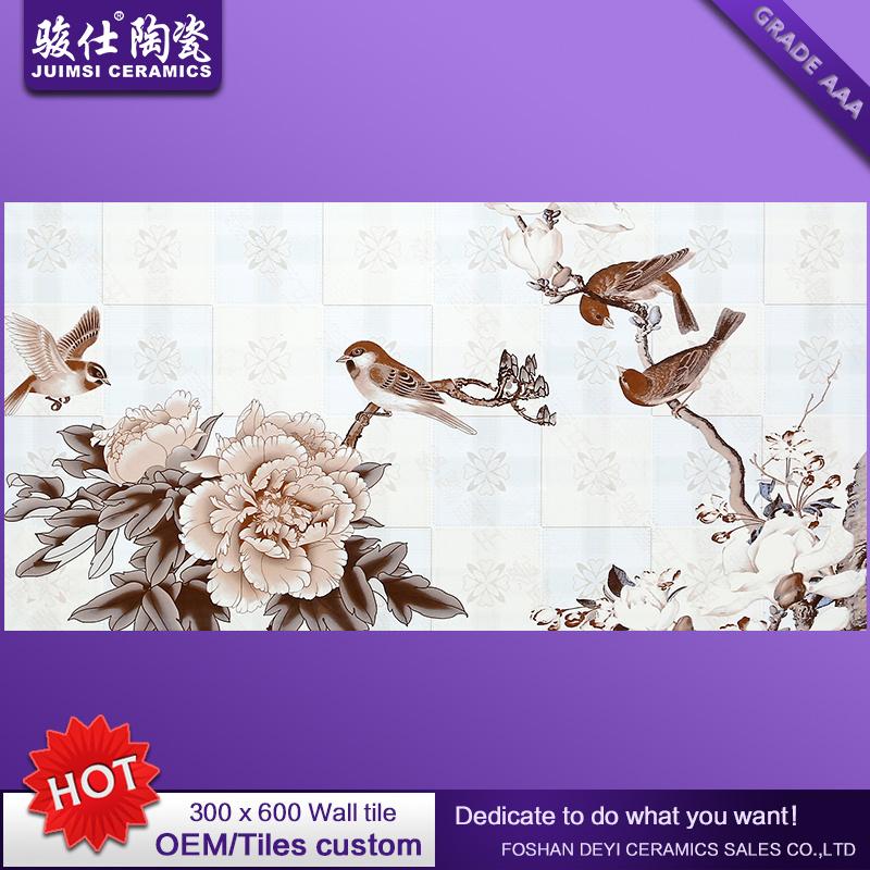 Foshan Waterproof 300X600 Kitchen & Bathroom Ceramic Glazed Wall Tile