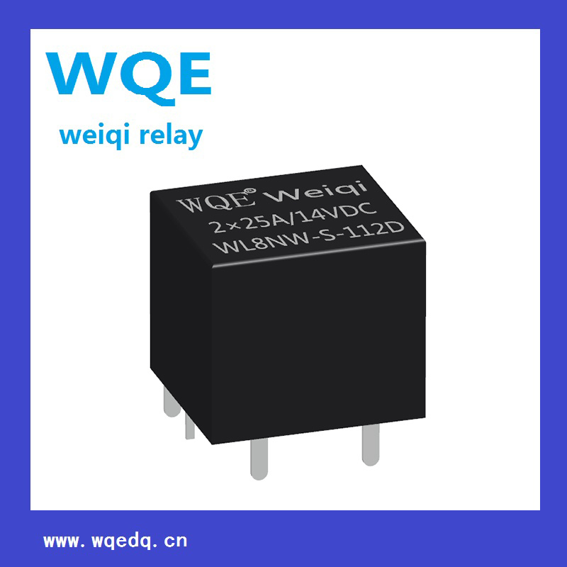 (WL8NW) Miniature Automotive Relay 14V Black Cover 4pins Suit for Automation System, Auto Parts