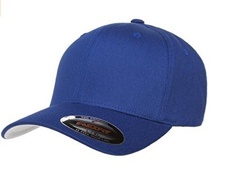 Good Quality Custom 100% Cotton Flex Fit Hats