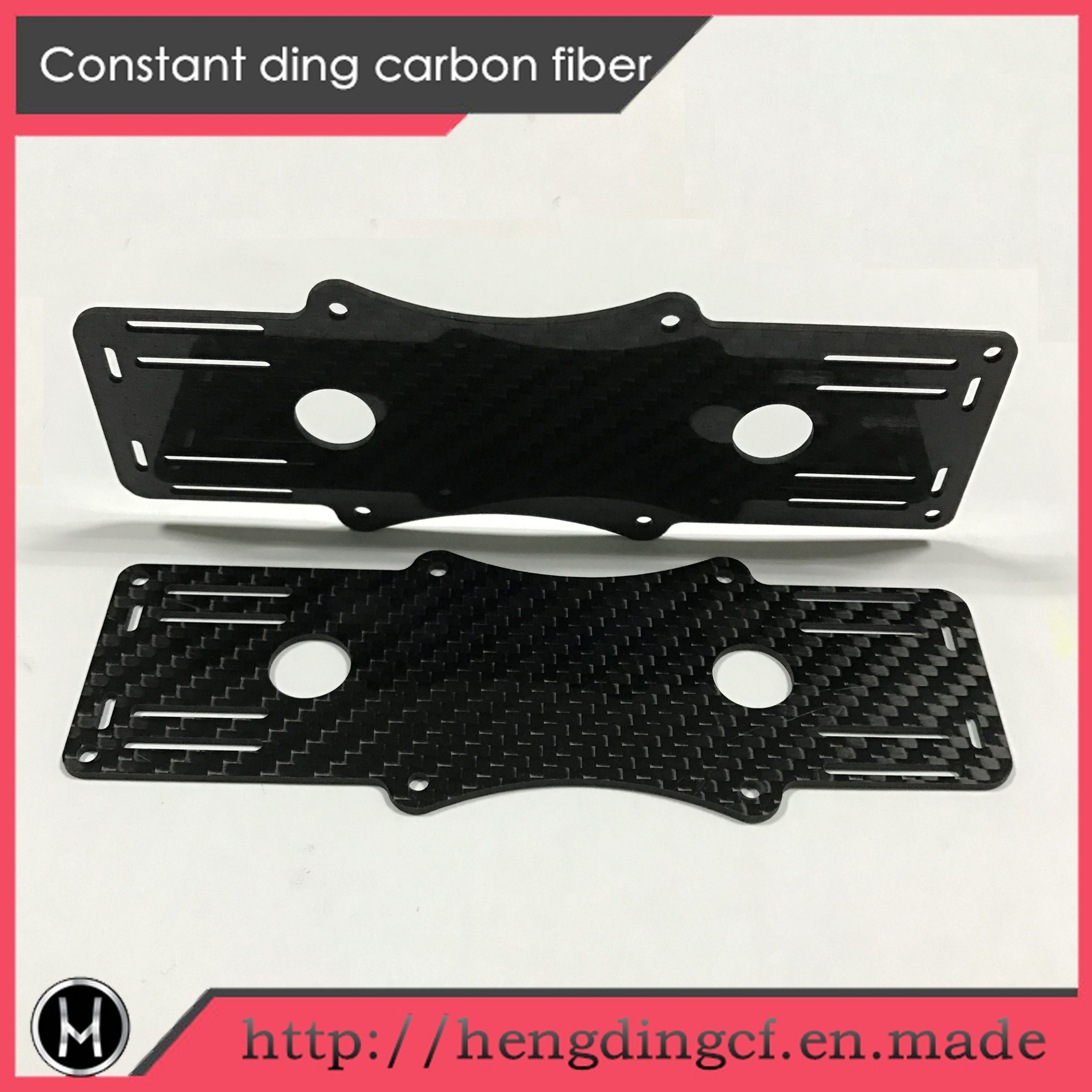 Carbon Fiber Plate for Uav Parts, RC Chassis CNC Cut