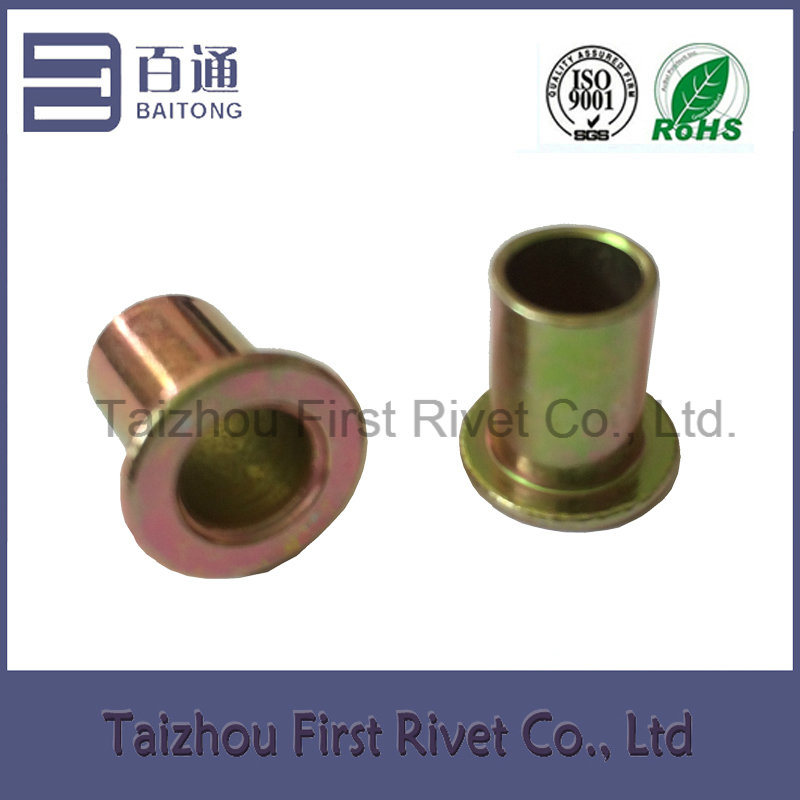 10X13.65mm Zinc Plated Flat Head Full Tubular Steel Rivet