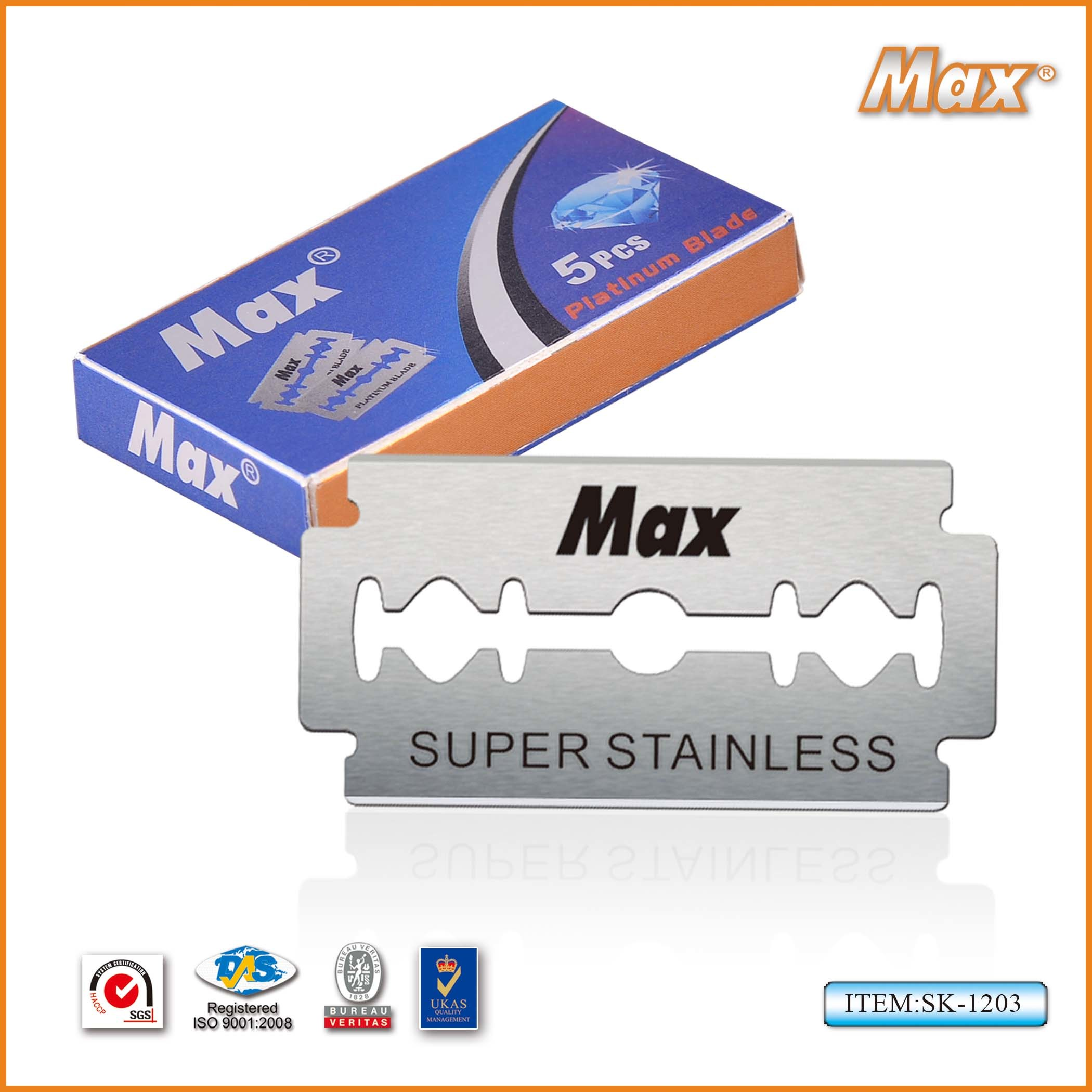 Hot Selling Double Edge Razor Blade with Platinum