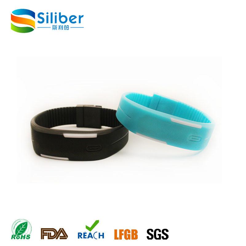 Custom Logo Fashion Silicone LED Watch, Silicone Wristband Watch