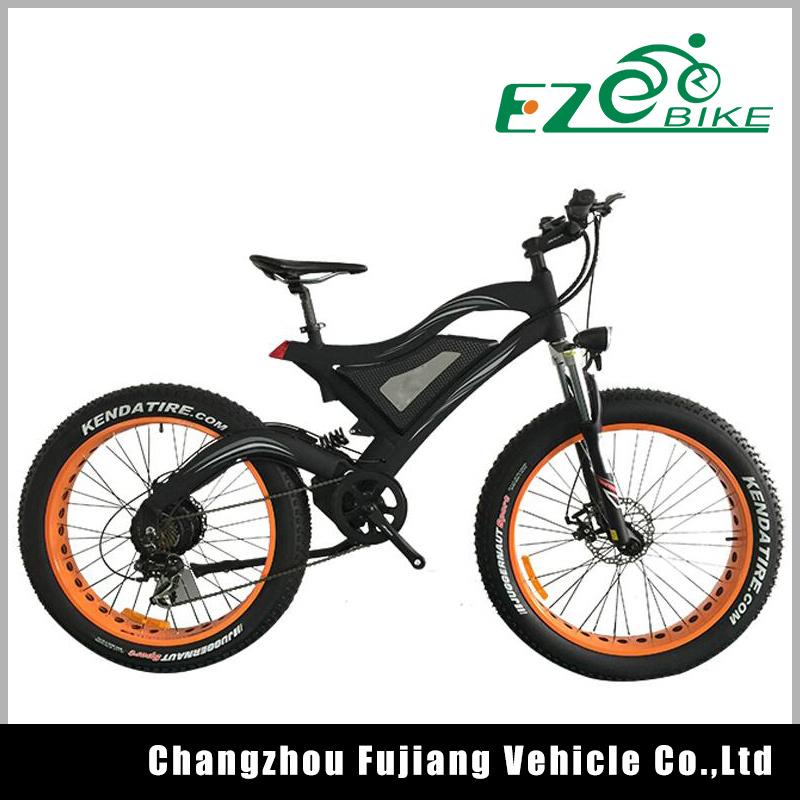 26 Inch Wheel Fat Electric Bicycle, Mountain E Bike Kit