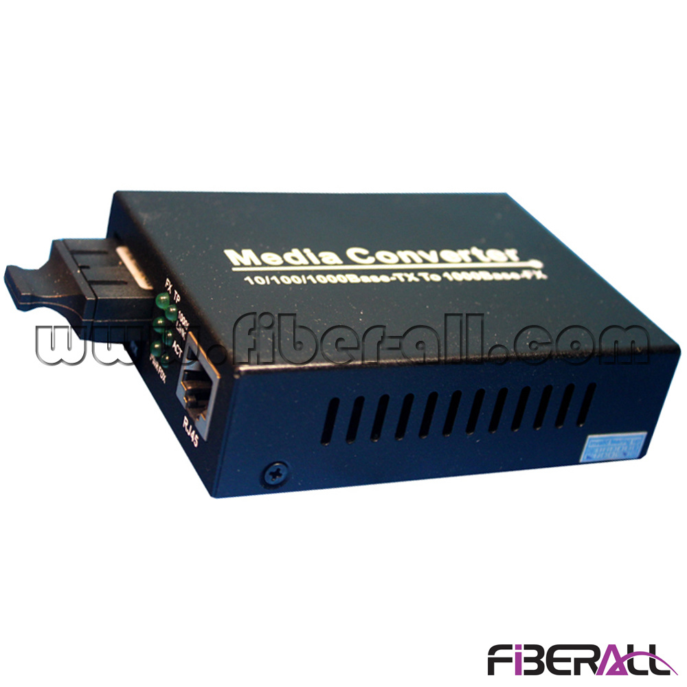 10/100/1000m Optical Media Converter with 1X9 Transceiver mm 850nm 550m