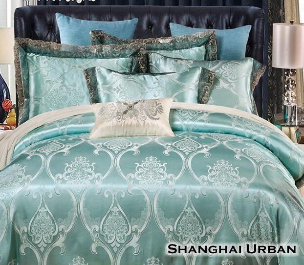 Tencel Jacquard Cotton Luxury Duvet Cover Bedding Set
