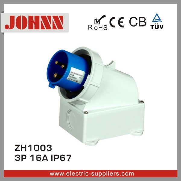 IP67 3p 16A High End Type Surface Mounted Industrial Plug
