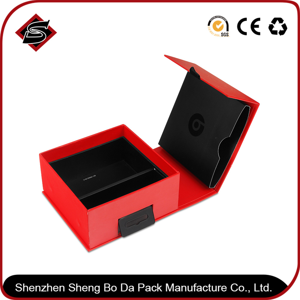 Customized Plastic Hook Color Box / Rigid Box / Folding Box for Electronic Products