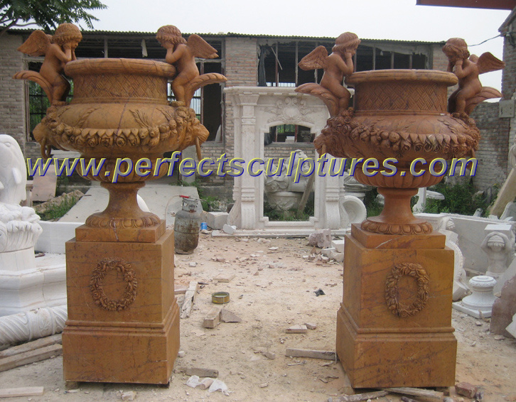 Garden Flower Planter for Stone Marble Planter (QFP248)