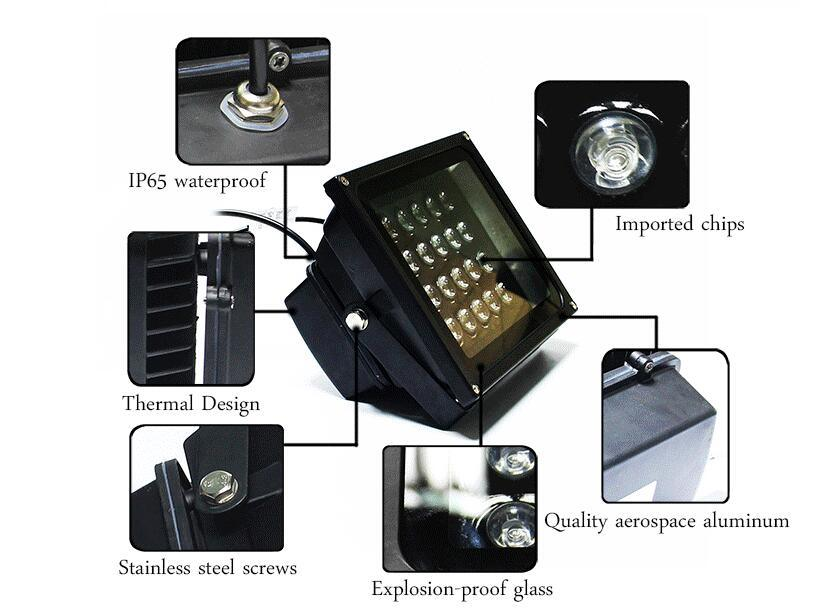 Hot Selling Adjustable Angle Color LED Flood Lights