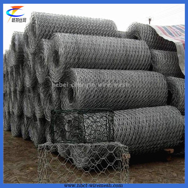 PVC Coated Galvanized Hexagonal Wire Netting for River Channel