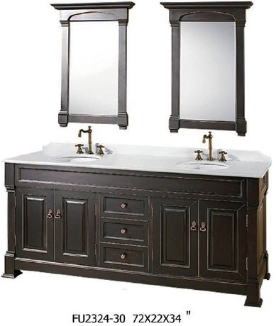 Bathroom Double Vanity on Double Sinks Bath Vanity  Fu2324 30    China Wood Vanity Cabinet