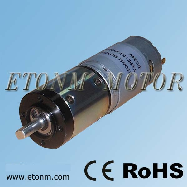 China planetary dc motor electric gear motor et pgm28 a Dc planetary gear motor