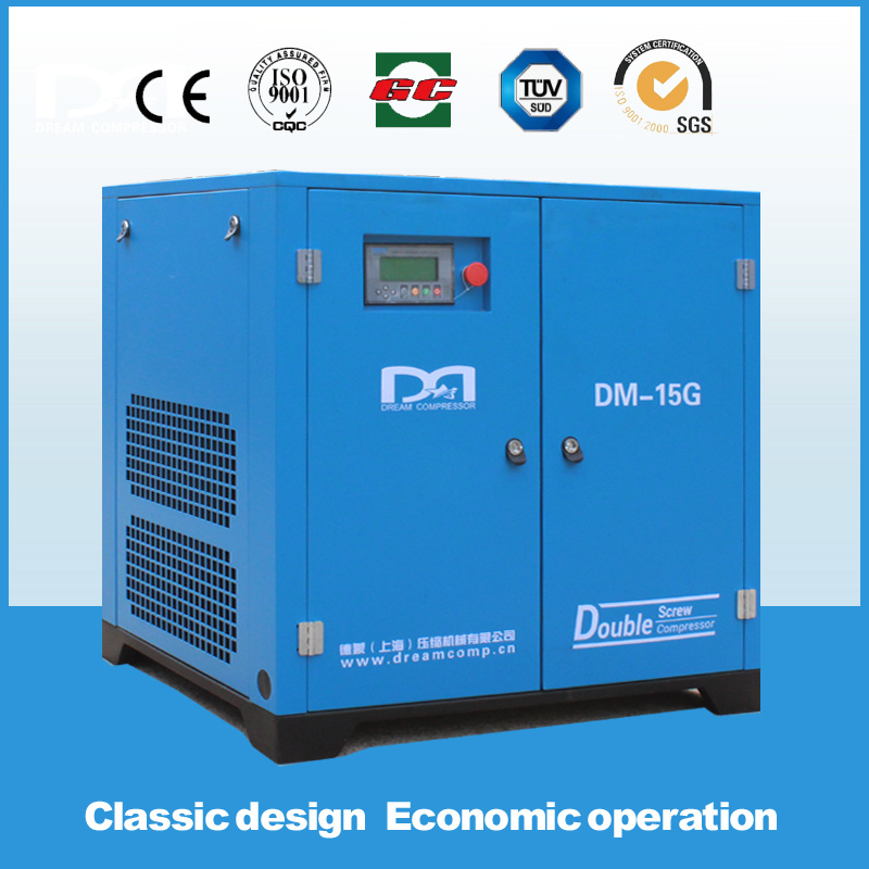 5.5~75kw 0.52~0.86m3/Min Stationary Belt Driven Screw Air Compressor Made in China Air Pump for Sale