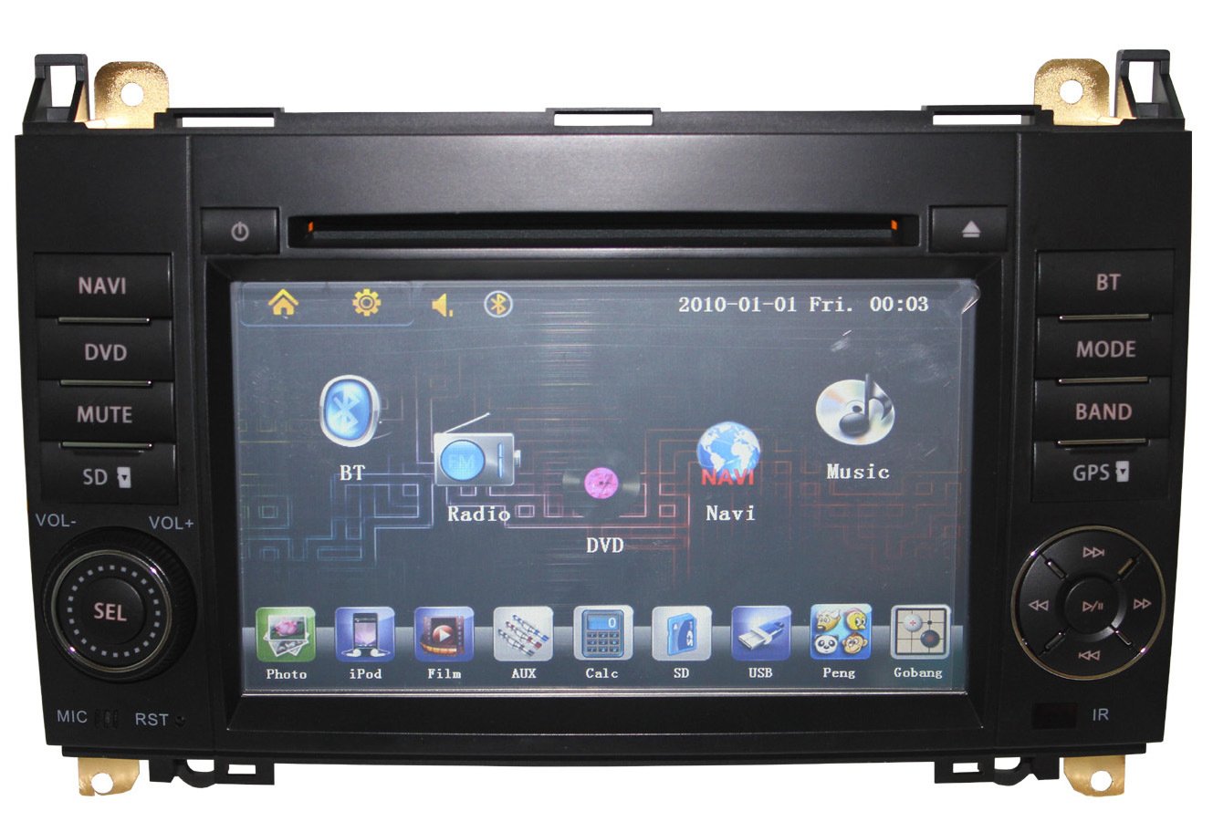 Double din car radio with gps