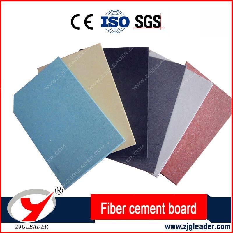 No Asbestos Fiber Cement Board Red Grey Black White Color