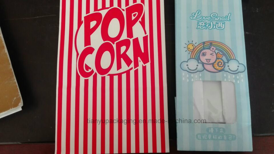 Popcorn Paper Bag Food Bag with Tin Tie