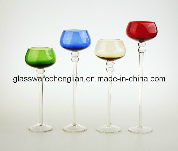 Colorful Glass Candle Holder (C04A-015-018)