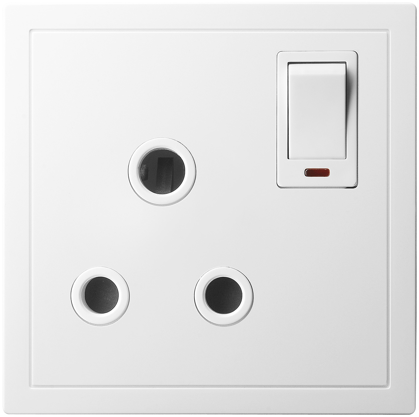 15A 1 Gang Switched Socket Outlet with Neon