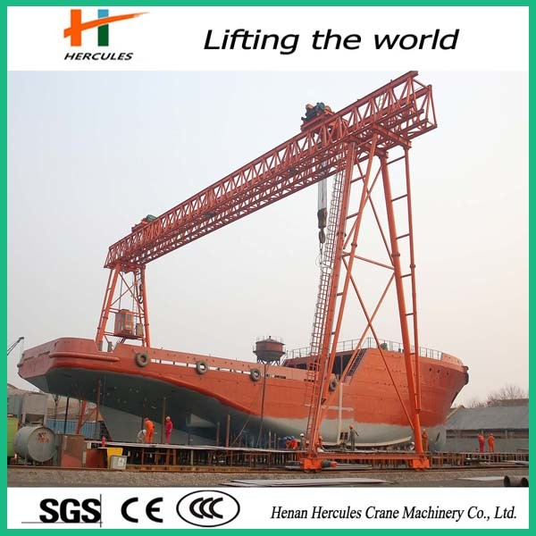 Low Cost 50-100 Ton Simple Truss Shipbuilding Gantry Crane
