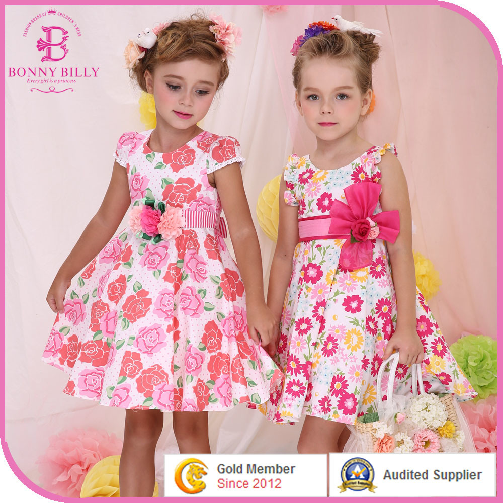 China Little Girl Dress Girls Designer Frock Children