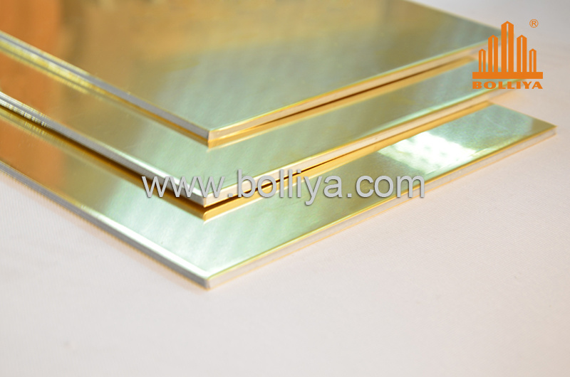 Aluminium Composite Panel For Cladding /CC-002 Yellow Copper