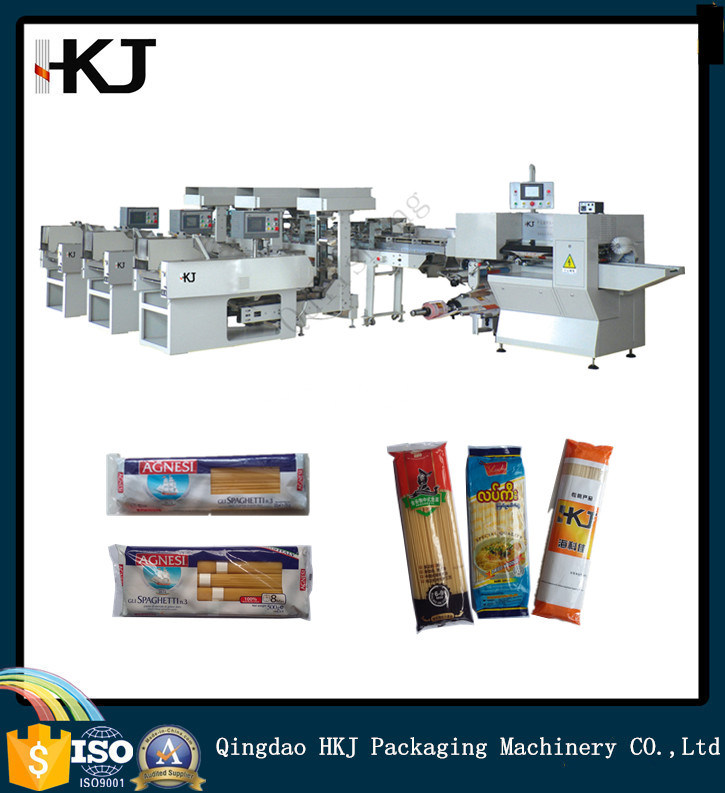 Automatic Spaghetti Noodle Weighing Packing Machine with Three Weighers