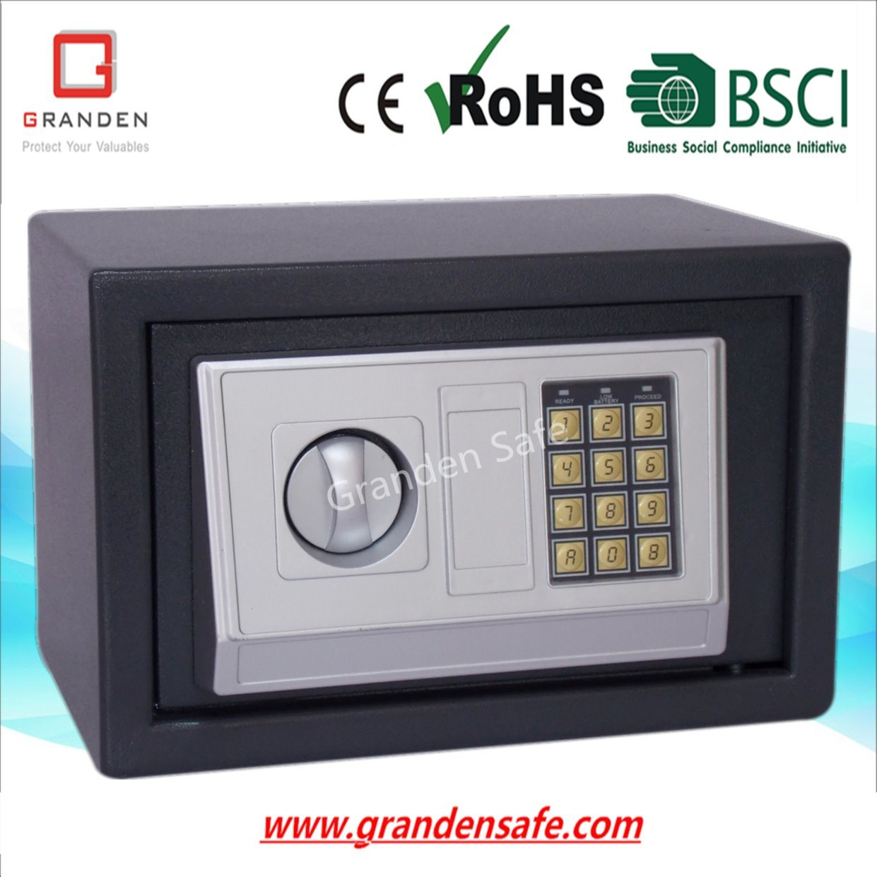 Electronic Safe Box for Home and Office (G-20EA) , Solid Steel