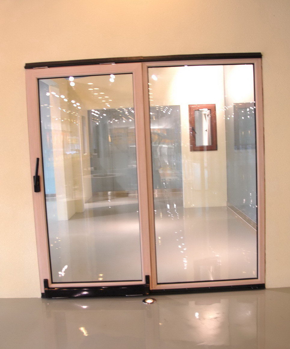 China glass sliding door china aluminum sliding door for Glass sliding entrance doors