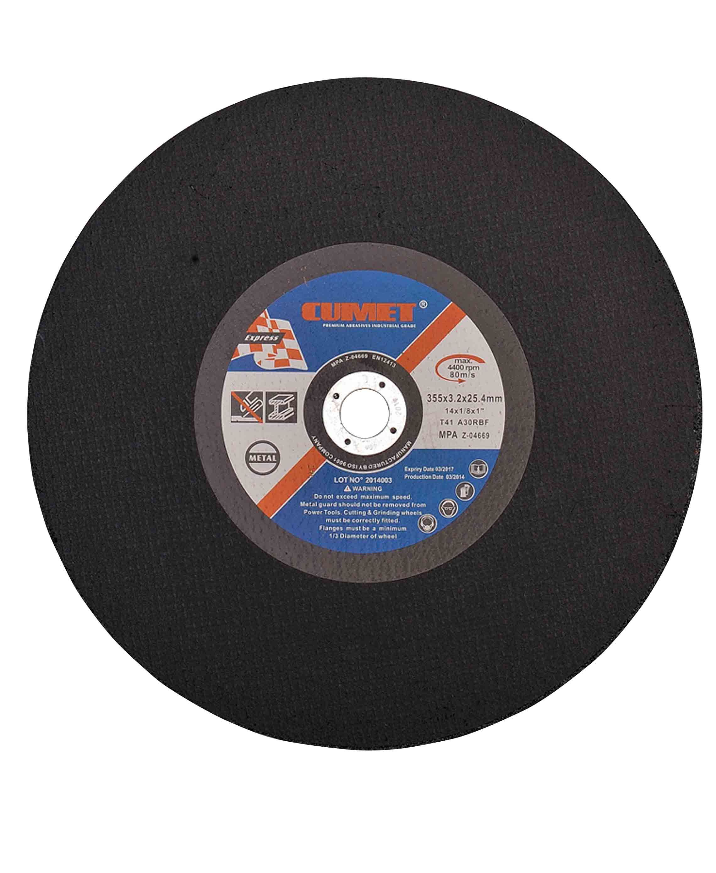 Flat Center Cutting Disc for Metal (350X3.2X25.4mm) Abrasive with MPa Certificates