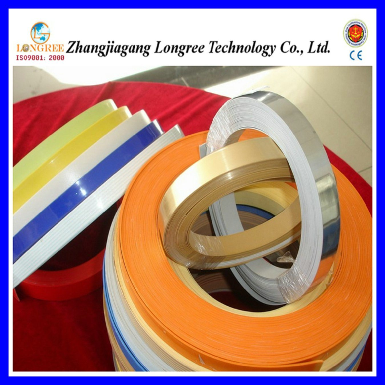 Wood Grain/Solid Color /High Glossy PVC Edge Banding (LGEB)