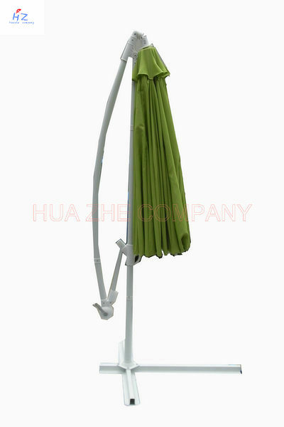 Hz-Um61 300-24-48mm Fiber Glass Hanging Umbrella 10ft Fiber Glass Parasol with Crank-Garden Parasol Banana Umbrella Outdoor Umbrella Garden Umbrella