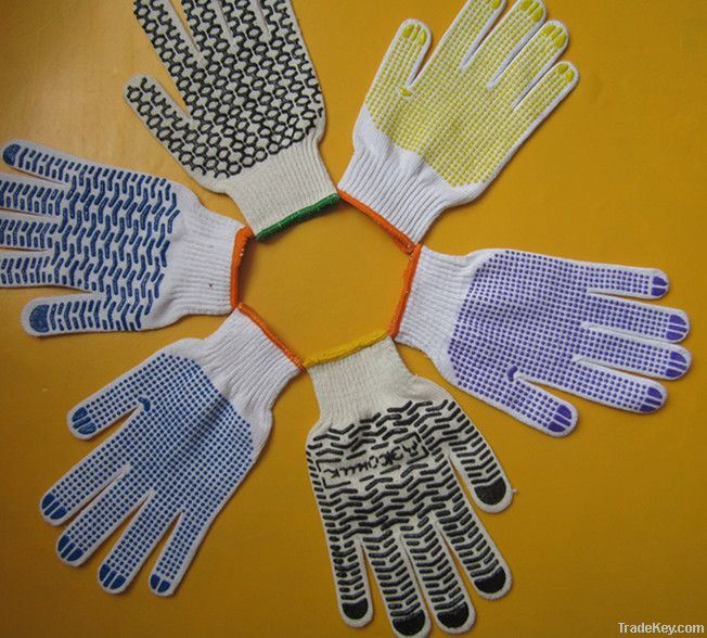 Colorful PVC Dotted Glove