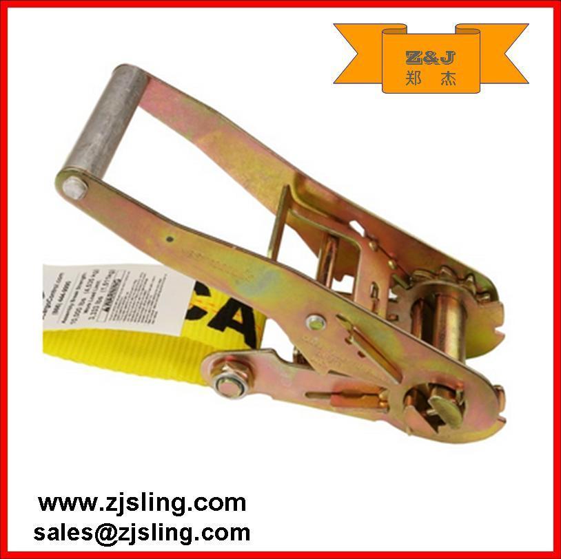 "En12195-2 2"" Double J Hook Ratchet Strap (1""- 4"" customized)"